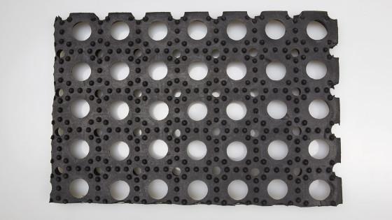 Dettaglio fondo Zerbino in gomma domino