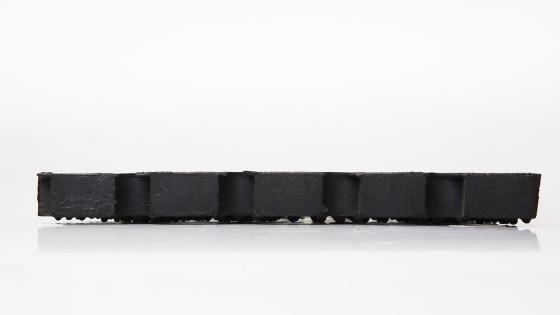 Vista profilo Zerbino in gomma domino