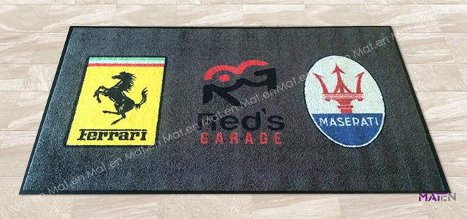 Zerbino asciugapassi super personalizzato Red's garage